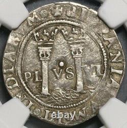1542 NGC XF 40 Mexico 1 Real Carlos & Joanna Silver Coin (19080501D)