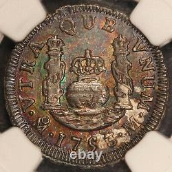 1753-Mo M Mexico 1 One Real Silver Coin NGC MS 62 KM# 76.1 TOP POP