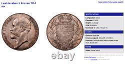 1904 Liechtenstein 5 Kronen Silver John Johann II NGC MS63 remaining 3,616 coins