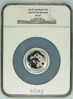 2012 Australia Silver Set 6 coins 0.5 to 32oz Dragon Zodiac Perth NGC MS 68-70