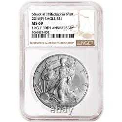 2016 (P) $1 American Silver Eagle NGC MS69 Brown Label