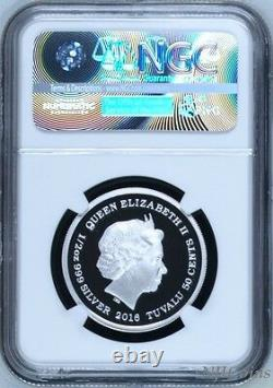 2016 P Tuvalu PROOF COLORIZED Silver The Tiger Cubs NGC PF70 1/2 oz Coin with OGP