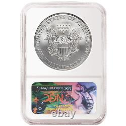 2017 (P) $1 American Silver Eagle NGC MS70 Blue ER Label