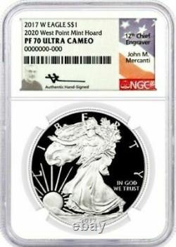 2017 W $1 Proof Silver Eagle 2020 West Point Mint Hoard PF70 NGC John Mercanti