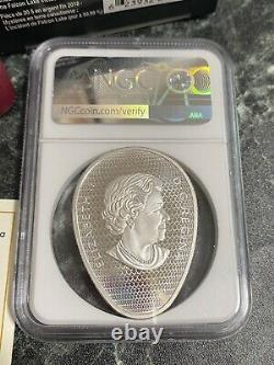 2018 $20 Canada UFO Falcon Lake Glow in Dark Silver Coin NGC FR 70 POP ONLY 1