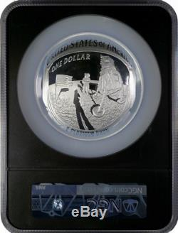 2019 Apollo 50th Anniv 5 Oz Proof Silver Coin NGC PF69 Early Releases Black Core