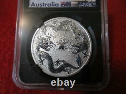 2019 P Australia Silver $1 Double Dragon First Release NGC MS 70