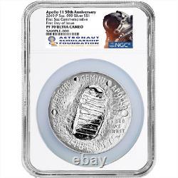2019-P Proof $1 Apollo 11 50th Ann 5 oz Silver Dollar NGC PF70UC FDOI ASF Label