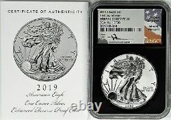 2019 S $1 Enhanced Reverse Proof Silver Eagle NGC PF70 FDOI Mercanti Signature