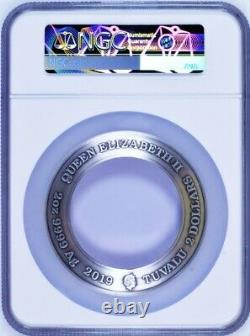 2019 Star Trek STARFLEET COMMAND EMBLEM Holey Antiqued Silver $2 Coin NGC MS70