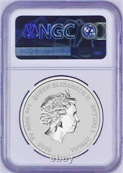 2020 Bart Simpson Simpsons $1 1oz. 9999 Silver COIN NGC MS70 ER