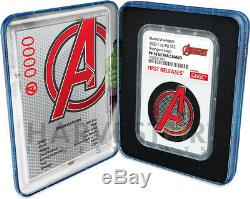 2020 Marvel Avengers Logo Coin 1 Oz. Silver Coin Ngc Pf70 First Release