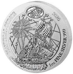 2020 Rwanda Mayflower Nautical Ounce 1 oz 999 Silver Coin NGC MS 70