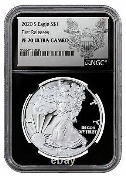 2020 S Proof American Silver Eagle San Francisco NGC PF70 UC FR BC Eagle PRESALE