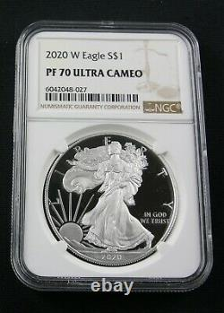 2020 W American Silver Eagle Ngc Pf 70