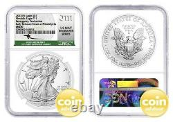 2021 $1 (P) Silver Eagle Emergency Production NGC MS70 ER Mercanti