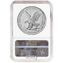 2021 $1 Type 2 American Silver Eagle NGC MS70 FDI 35th Anniversary Label