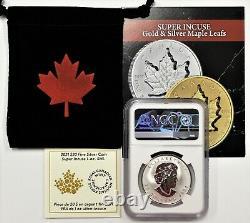 2021 $20 Canada 1oz Silver Reverse Proof Maple Leaf Super Incuse NGC PF70 FDOI