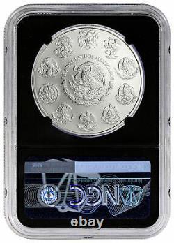 2021 Mo Mexico 1 oz Silver Libertad Onza Coin NGC MS70 Black Core FR Exclusive