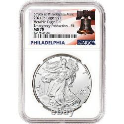 2021-(P) American Silver Eagle NGC MS70 Early Releases Emergency Production