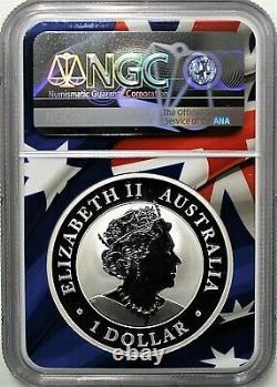 2021 P Australia $1 Silver Wedge Tailed Eagle NGC MS70 FDOI Mercanti Signature