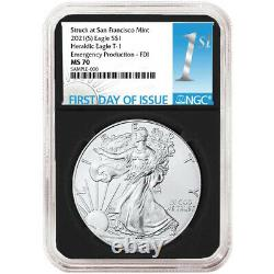 2021 (S) $1 American Silver Eagle NGC MS70 Emergency Production FDI First Label
