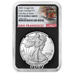 2021-S Proof $1 Type 2 American Silver Eagle NGC PF70UC FDI Trolley Label Retro