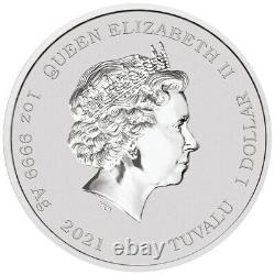 2021 Tuvalu $1 John Wayne 1 oz. 999 Silver Coin NGC MS 70