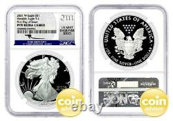 2021 W $1 Proof Silver Eagle NGC PF70 UCAM FDOI First Day of Issue Mercanti
