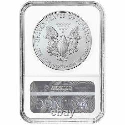 2021 (W) $1 Type 1 American Silver Eagle 3pc. Set NGC MS69 Black ER Label Red Wh