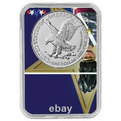 2021 (W) $1 Type 2 American Silver Eagle NGC MS70 FDI West Point Core