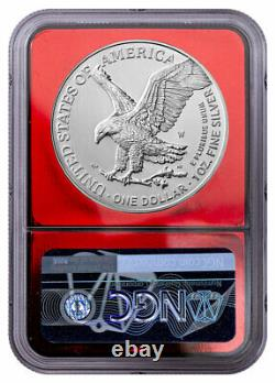 2021 W Burnished American Silver Eagle Type 2 NGC MS70 FDI Red Foil Core PRESALE