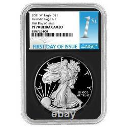 2021-W Proof $1 American Silver Eagle NGC PF70UC FDI First Label Retro Core