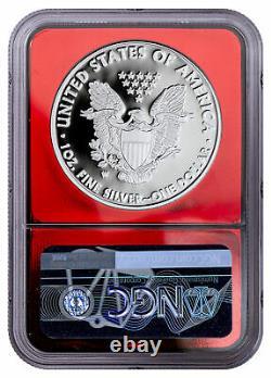 2021 W Proof Silver Eagle T-1 Congratulations Set NGC PF70 UC FDI Red Core