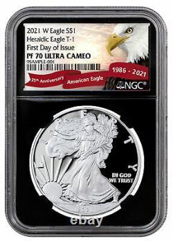 2021 W Silver Proof American Eagle NGC PF70 UC FDI BC Exclusive Eagle La PRESALE