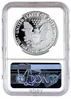 2021 W Silver Proof American Eagle NGC PF70 UC FR 35th Anniversary Label