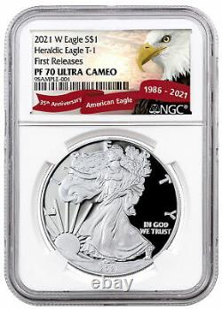 2021 W Silver Proof American Eagle NGC PF70 UC FR Exclusive Eagle Label
