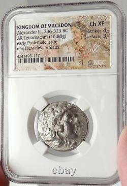 ALEXANDER III the GREAT Ancient 330BC Tetradrachm Silver Greek Coin NGC i66657
