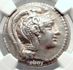 ATHENS GREECE Authentic Ancient Greek Silver Tetradrachm Coin w OWL NGC i73330