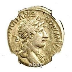 Ancient Roman Emperor Hadrian Silver Coin NGC Certified Fine & Story, Certificate