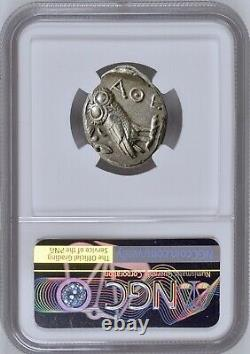 Attica Athens Greek Owl Silver Tetradrachm Coin (440-404 BC) NGC CH AU 4/5 4/5