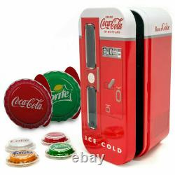 Fiji 2020 4 x 1$ COCA COLA Bottle Cap Vending Machine Set Shape Silver Coins