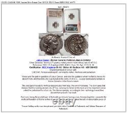 JULIUS CAESAR 48BC Ancient Silver Roman Coin VENUS TROY Rome HERO NGC i66473