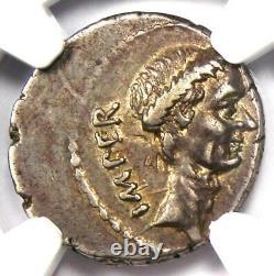 Julius Caesar AR Denarius M. Mettius Coin 44 BC Certified NGC Choice XF (EF)