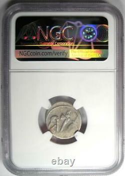 Julius Caesar AR Denarius Silver Elephant Coin 49 BC Certified NGC Choice VF