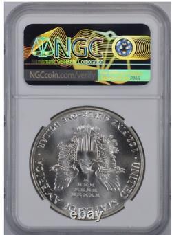 MS69 1986 American Silver Eagle Graded NGC No Spots Bright White
