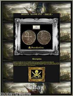 Mexico 1733 8 Reales Ngc 35 Klippe Shape Fleet Shipwreck Silver Coin Treasure