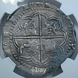 NGC 1500s Spanish Potosi Silver 8 Reales Antique Dollar Pirate Treasure Cob Coin