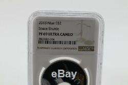 NGC Space Shuttle Flown Piece within Coin from Niue 2018