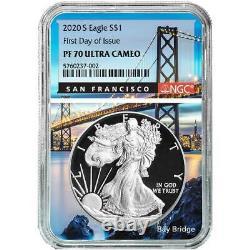 Presale 2020-S Proof $1 American Silver Eagle NGC PF70UC FDI San Francisco Cor